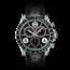 Tissot TISSOT Heren V8, staal/leer zwart ralley, chronograaf, groene lunette, zwarte wijzerplaat, saffier glas, 10Atm