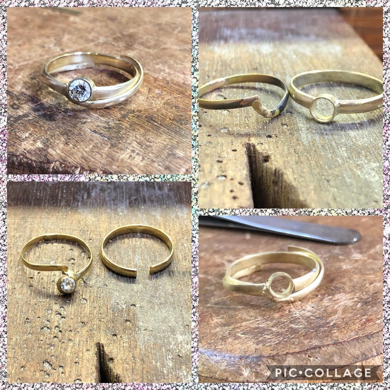 Twee ringen vermaakt tot 1 ring