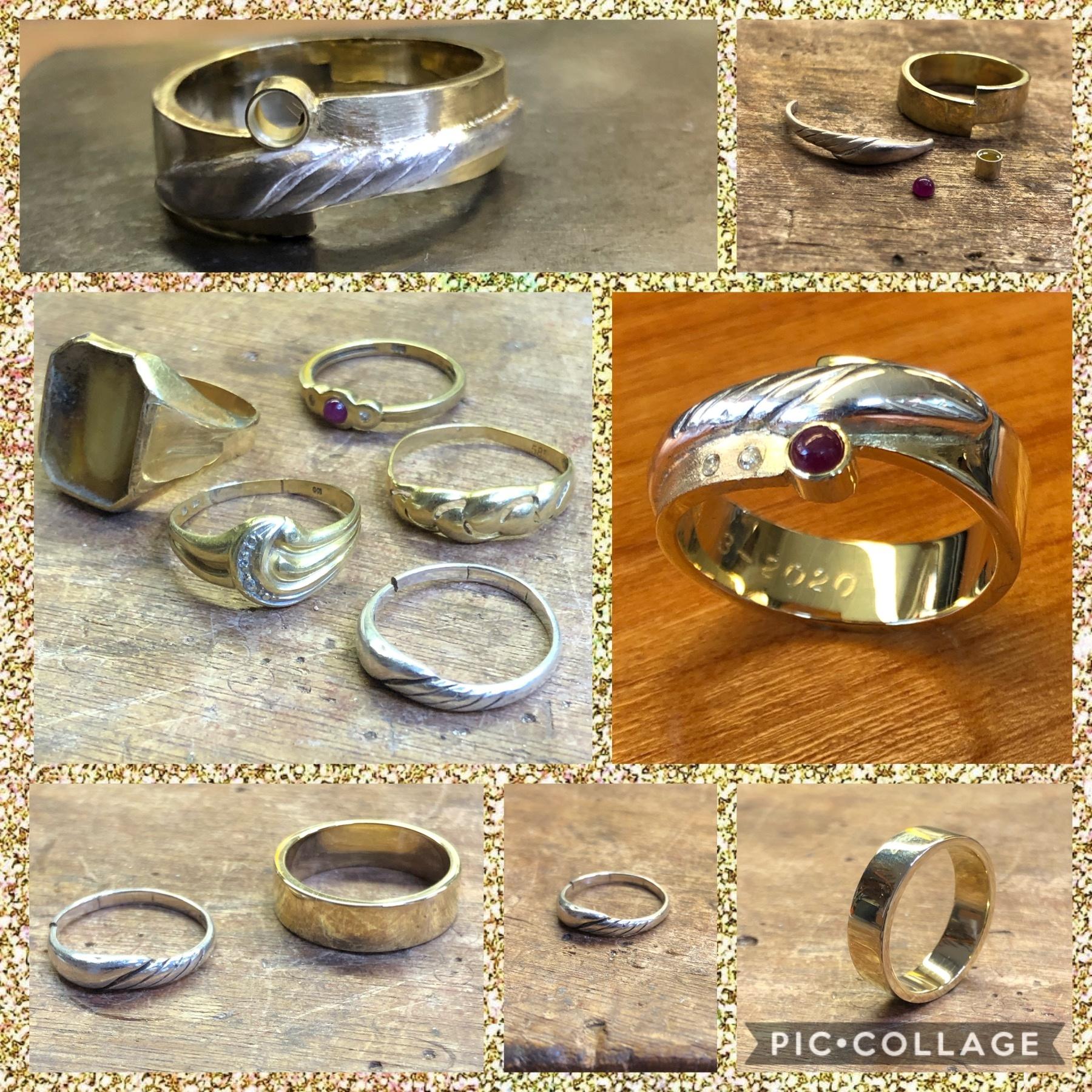 Vijf ringen tot 1 nieuwe ring