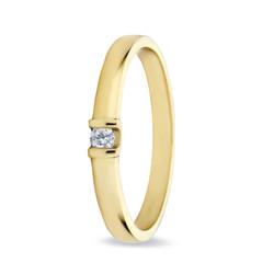 Miss Spring ring Noa geelgoud 0.06crt