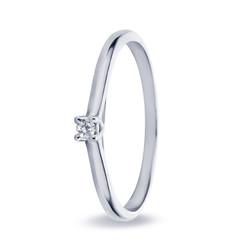 Miss Spring ring Noor witgoud 0.08crt
