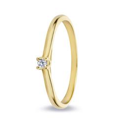 Miss Spring ring Noor geelgoud 0.03crt