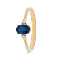 Miss Spring ring Helena  geelgoud 0,03crt