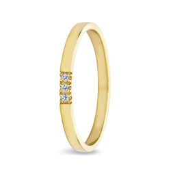 Miss Spring ring Chris 3 geelgoud 0.024
