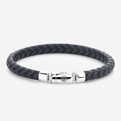 Rebel&Rose RR-L0063-S-M Half Round Braided Black Blue