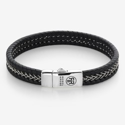 Rebel&Rose RR-L0100-S-L Silver Wired Black