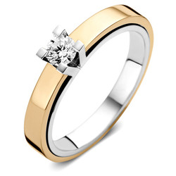 ROOS1835 084R25W18 Ring Witgoud 18krt. Solitair