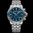 Raymond Weil Raymond Weil Tango 300 8560-ST2-50001 heren chronograaf herenhorloge van blauw staal, 43 mm roestvrijstalen armband, blauwe wijzerplaat