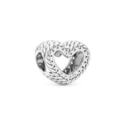 PANDORA Snake Chain Heart Charm 799100C01
