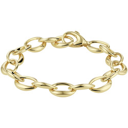 14 karaat geelgouden armband 19 cm.