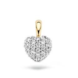 BLUSH 14krt. geelgouden hanger hart met zirkonia's  6068BZI