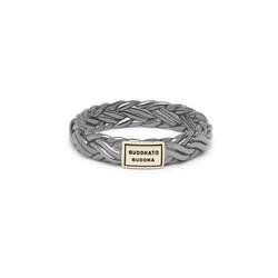 BUDDHA TO BUDDHA 605BR SG Katja XS Ring Black Rhodium Shine Gold 14kt