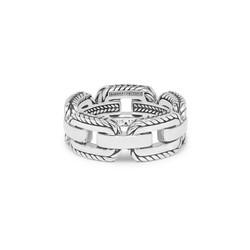 BUDDHA TO BUDDHA 118 Barbara Link Ring Silver