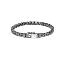 BUDDHA TO BUDDHA J170BR SS Katja XS  Bracelet Black Shine Silver