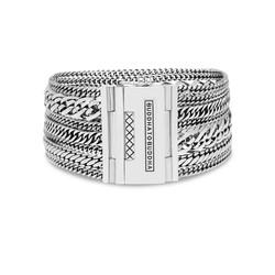 BUDDHA TO BUDDHA 124 Multi Chain Nathalie Bracelet Silver