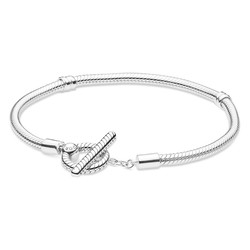 PANDORA Snake Chain Bracelet T-Bar 599082C00