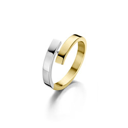 Fjory ring goud/zilver 41-R37BIC3-0,02