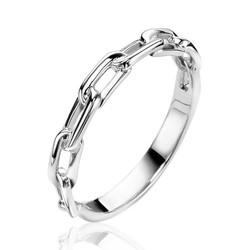 ZINZI Zilver gerhodineerde ring ZIR2115-56