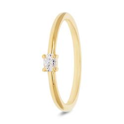Miss Spring ring Brilliantly geelgoud 0.5