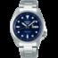 SEIKO SEIKO 5 SPORTS Heren/Dames SRPE53K1, staal/staal, automaat, dag/datum, blauwe wijzerplaat, 10ATM