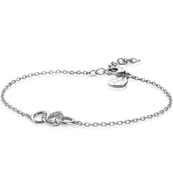 ZINZI zilveren armband 3 open rondjes verbonden wit ZIA2045
