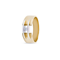 R&C Zoe 14 karaat geelgouden ring met diamant 0.05crt. R/SI maat 54.