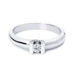 R&C Camille14 karaat witgouden ring met diamant 1x0.07 crt+pave 0.04 crt. maat 54