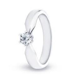 R&C 14 karaat witgouden ring Elise, diamant 0.21 crt. R/SI, maat 53.