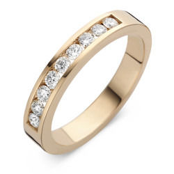 ROOS1835 075R05-09Y18 Ring Geelgoud 18krt rail met 0.45 crt. diamant G/VSI