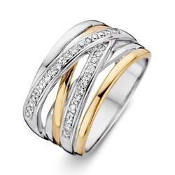 Excellent RF625178/56 zilver met 14krt gouden ring