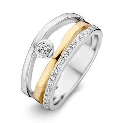 Excellent RF626046/58 14krt met zilver geelgouden ring, fantasie