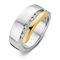 Excellent RF626848/54 14krt met zilver geelgouden ring