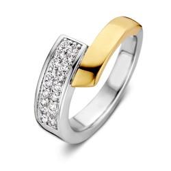Excellent RF626846/54 14krt met zilver geelgouden ring