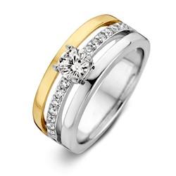 Excellent RF626847/54 14krt met zilver geelgouden ring