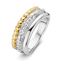 Excellent RF626242/54 14krt met zilver geelgouden ring fantasie