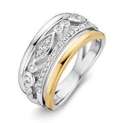 Excellent RF625245/56 14krt met zilver geelgouden ring gekruisd
