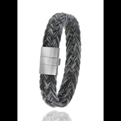 Albanu armband 30.04.41 paardenhaar zwart/melee, 20 cm.
