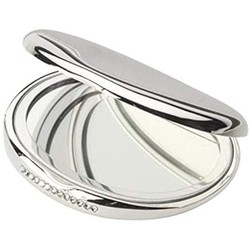 Zilverstad 6084260 Tasspiegel ovaal, met kristal verzilverd