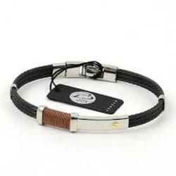 Salvatore Bersani SB107004 Armband Staal Bruin/zilverkleurig