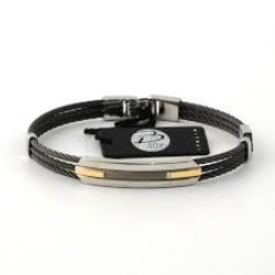 Salvatore Bersani SB106985 Armband Staal Zwart/zilverkleur
