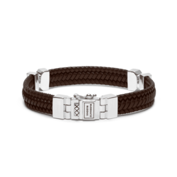 BUDDHA TO BUDDHA Armband Edwin Small Special Leather Brown 182BR
