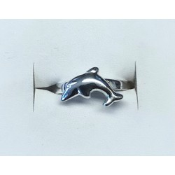 Kinderring 1049335 zilver dolfijn maat 14,5