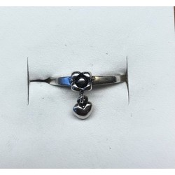 Kinderring 1037567 zilver met hanghart maat 15