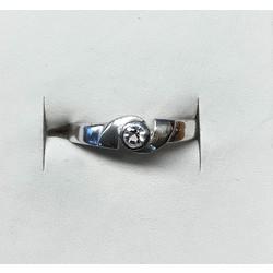 Kinderring 1049334 zilver wit zirkonia maat 15,5