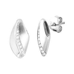 Zilveren gerhodineerde oorknoppen