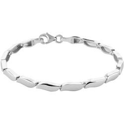 Zilveren gerhodineerde armband