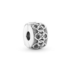 PANDORA Flower  patroon clip zilver 799316C00