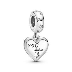 PANDORA Bedel Heart sterling silver dangle 799323C01