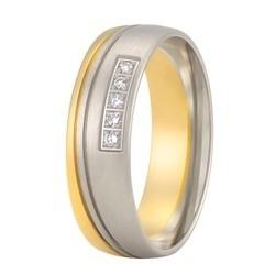 Aller Spanninga trouwring model 150 met 0.05crt diamant