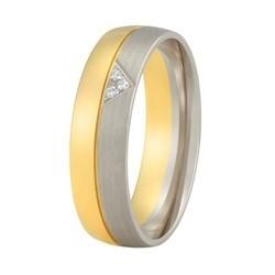 Aller Spanninga trouwring model 151 met 0.03crt diamant